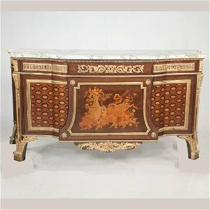 Louis XVI style ormolu mounted commode