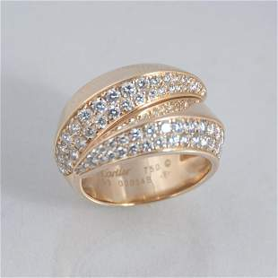 Cartier 18K yellow gold Griffe ring