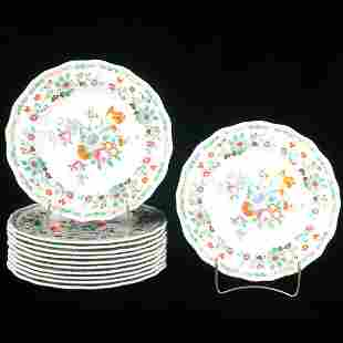 Set of 12 Royal Doulton china dinner plates