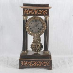 French Empire Portico mantle clock