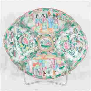 Rose Medallion porcelain oval platter