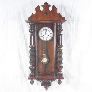 German mahogany wall clock