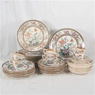T. Till & Son partial set of Ironstone china