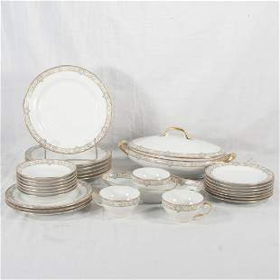 French Limoges china partial dinner service