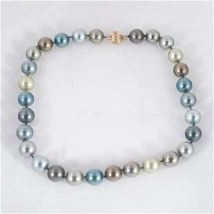 "18"" Black Tahitian pearl necklace"