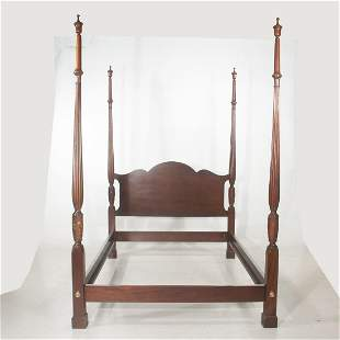 Mahogany four poster full size bed