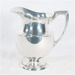 Crescent silver plated water pitcher