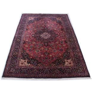 "5'9"" x 9' Kashan rug"