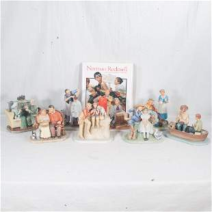 Group of 8 Norman Rockwell First Edition figures