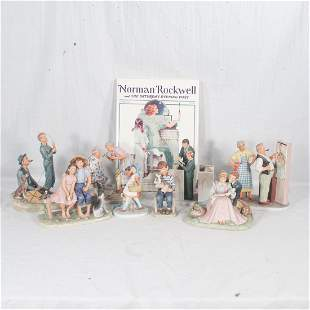 Group of 8 Norman Rockwell porcelain figures