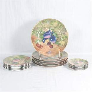 Group of 18 pieces of Limoges, France plates