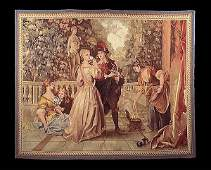 145 51 x 61 Hanging tapestry with French Verandah