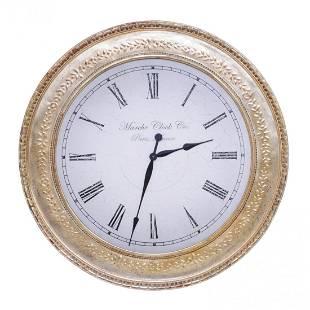 Gilt wood circular clock, Marche Clock Co.