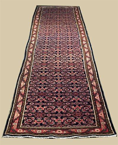 """1472: 3'7"""" x 17"""" Meshkabad rug"""