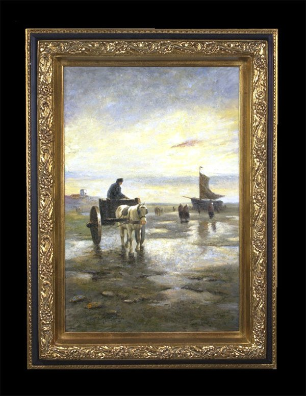 1473: Dutch oil on canvas, painting depicting horse wit