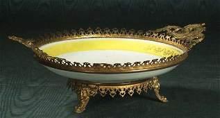 1331 Superb continental hand painted porcelain center