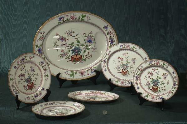 1462: Royal Worcester large platter with floral decorat