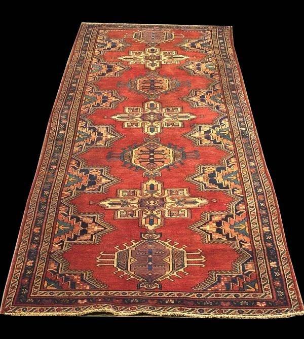 "1463: 3'4"" x 13' Serapi rug"