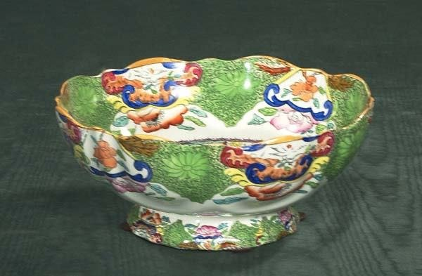 470: Fine Masons ironstone bowl with multicolor floral