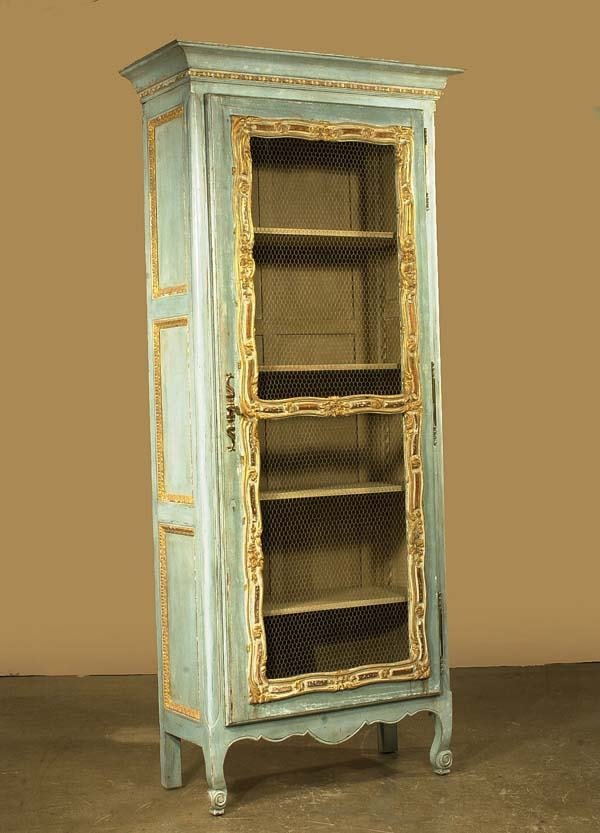 508: Carved and decorated Country French cabinet with g