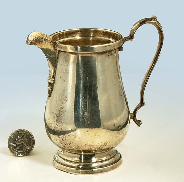 1007A: Whiting sterling silver cream pitcher, c.1910-19