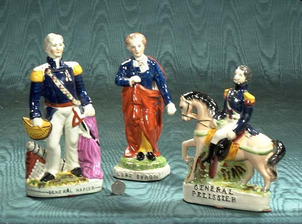 2: Group of three Staffordshire figures, General Napier