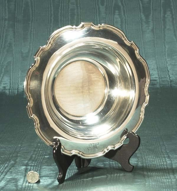 """1003: Tiffany and Co."""" sterling silver bowl with scallo"""