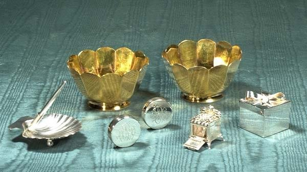 1017A: Group of Tiffany and Co. sterling silver, two go
