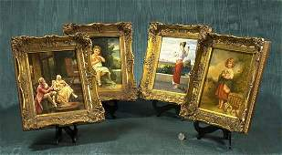 1041A Fine collection of four English oil on board pai