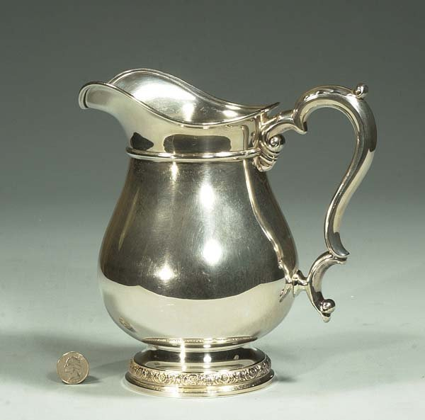 "5: International sterling silver pitcher in the ""Prelud"
