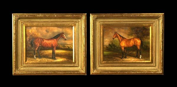 11: Pair of oil paintings on canvas, landscape scenes w
