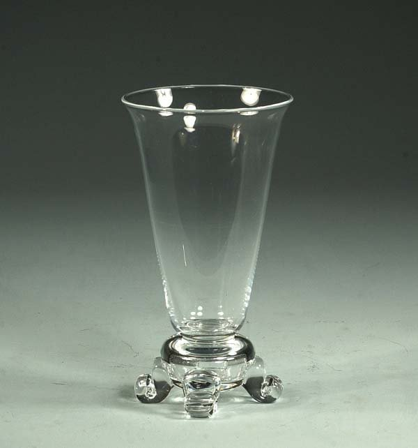 "20: Steuben crystal footed vase, 9-1/2"" high"