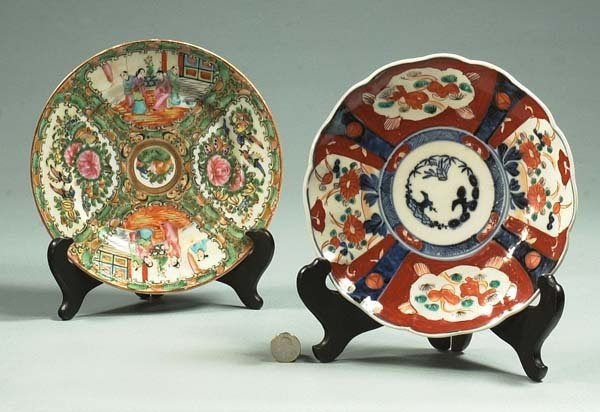 """1001: An 8"""" Chinese Rose Medallion plate and an 8"""" Imar"""