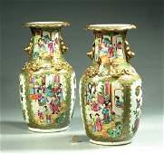 1051 Fine pair of Chinese Rose Medallion porcelain vas