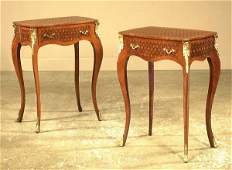1436 Pair of Louis XV bronze mounted king wood and exo