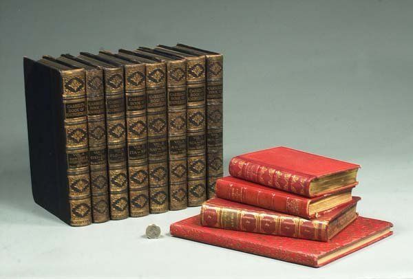 "15: Group of eight leather bound books ""Cassell's Book"