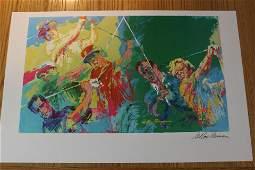 "Leroy Neiman lithograph ""Golf Champions"""