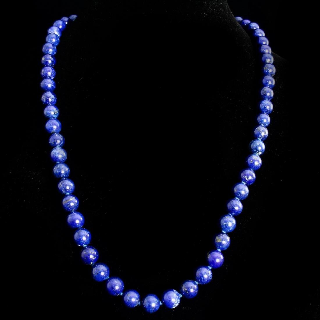 Blue Lapis Lazuli Bead Necklace