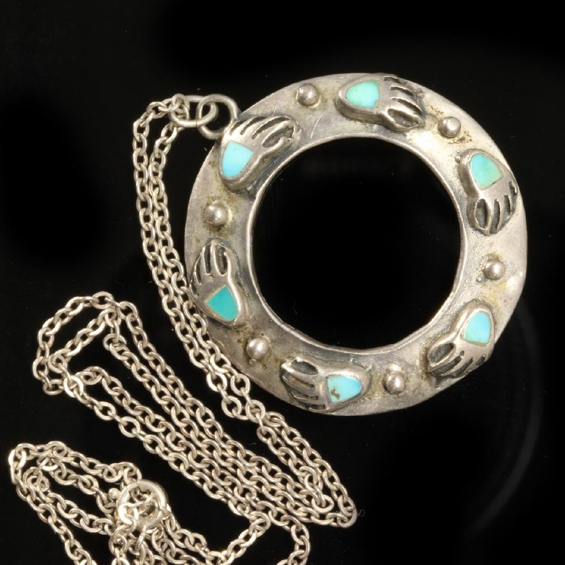 Navajo Circular Pendant Necklace