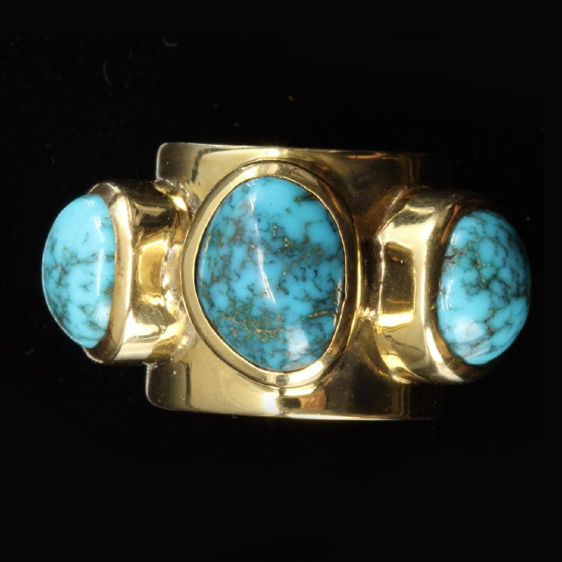 14k Gold and Turquoise Ring