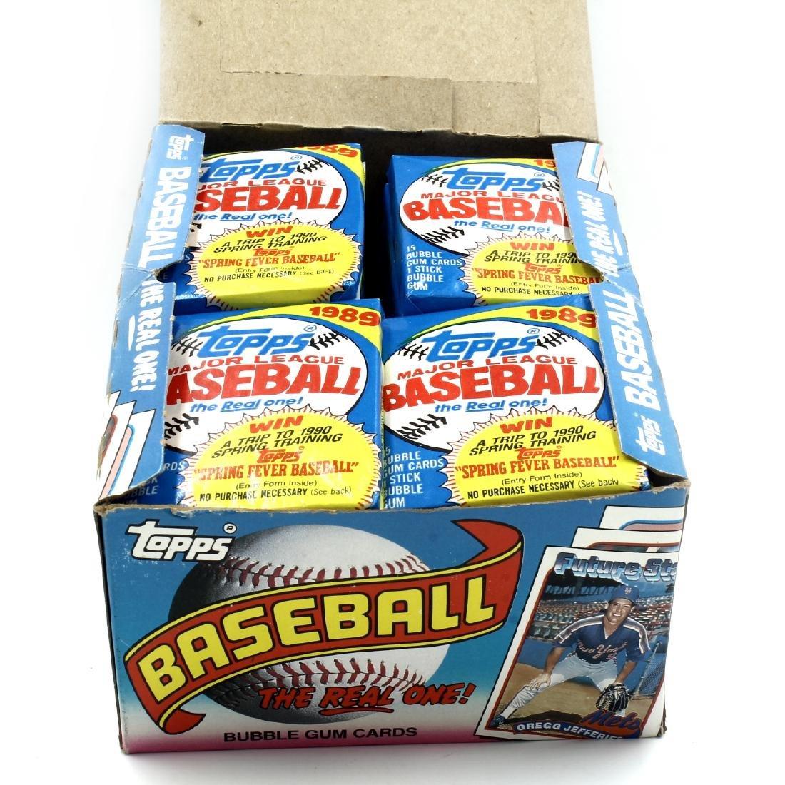 Cards, 1989 Topps Gum Wrap, Box