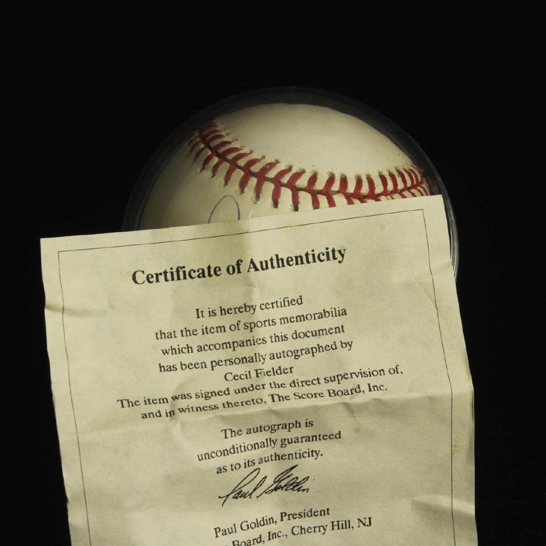 Autographed Baseball with CoA, Cecil Fielder - 3