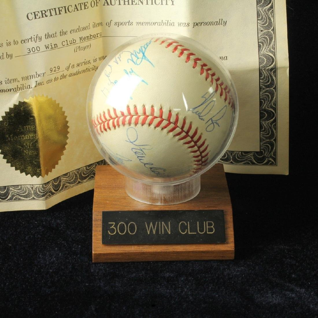 Autographed Baseball Signed by 8 Hall of Fame Pitchers