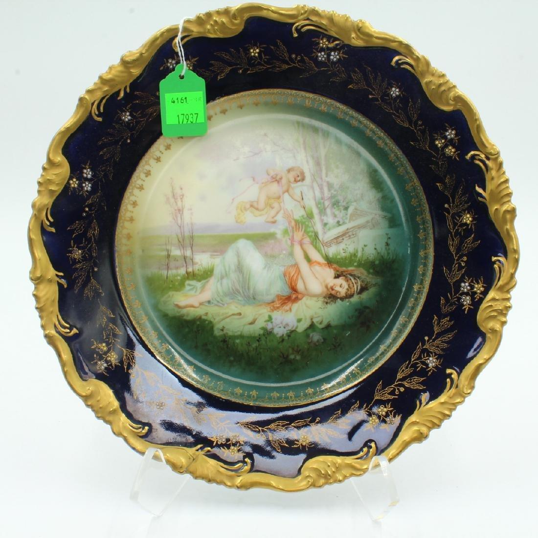 Porcelain Handpainted Cabinet Plate