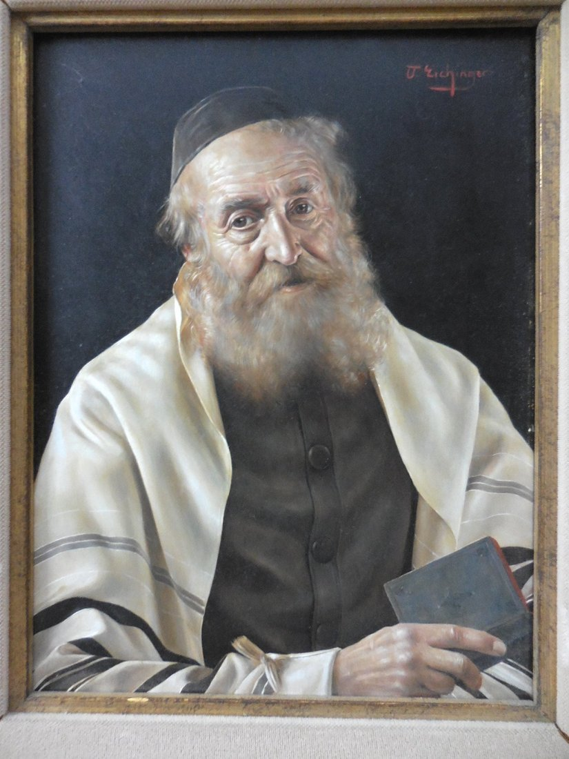 Judaica Painting, Oil on Board