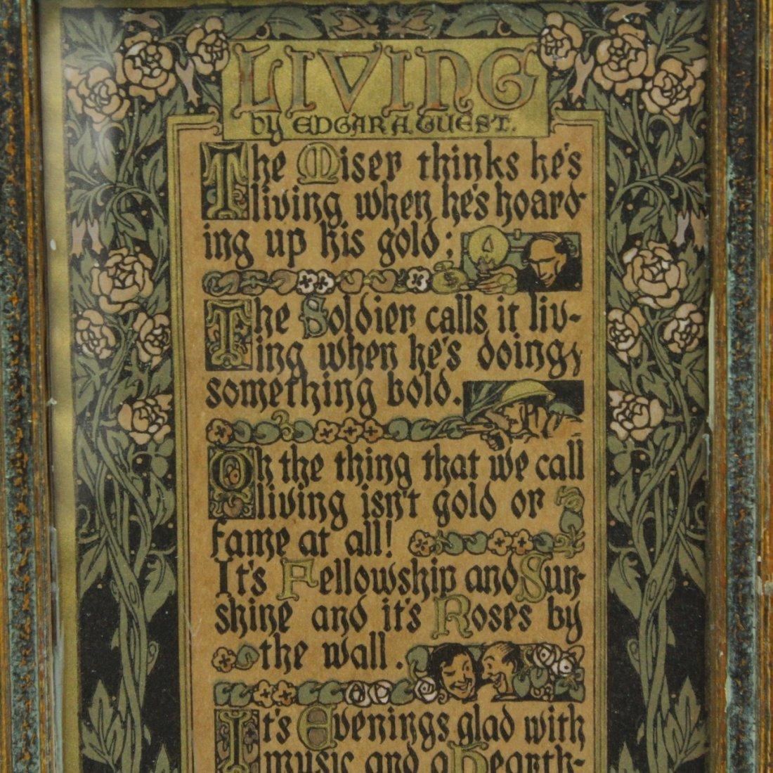 Arts & Crafts Illuminated Poem - 2