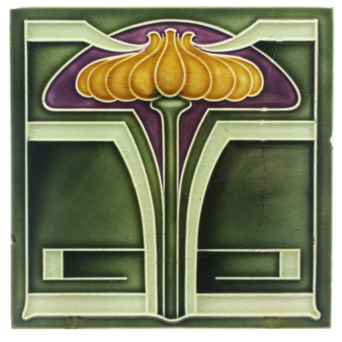 Art Nouveau Design Tile, C. 1905
