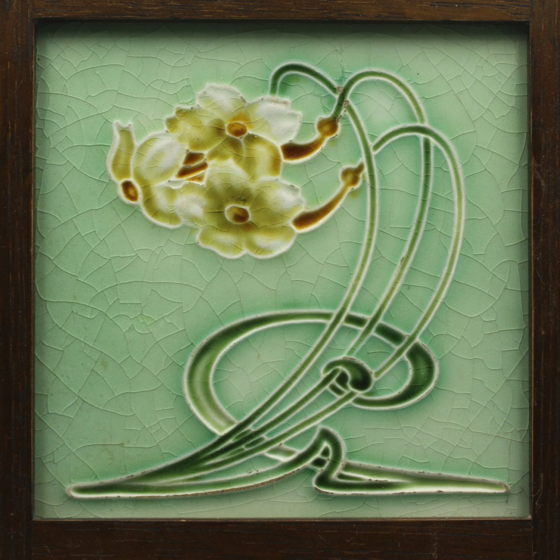 Art Nouveau Design Tile, C. 1906
