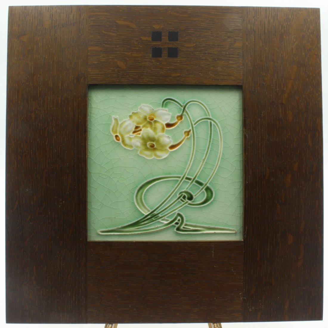 Art Nouveau Design Tile, C. 1906 - 2