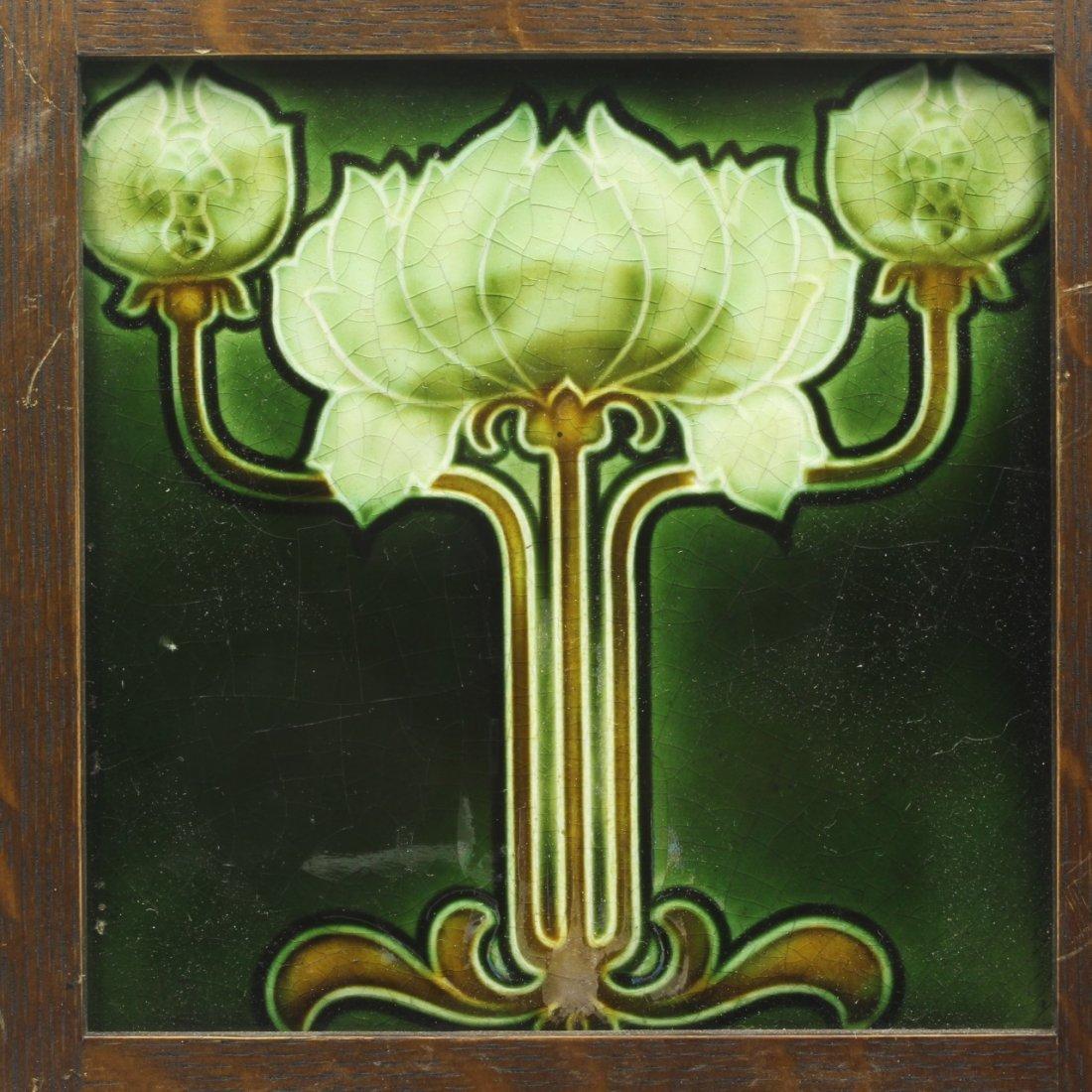 Art Nouveau Design Tile, C. 1908